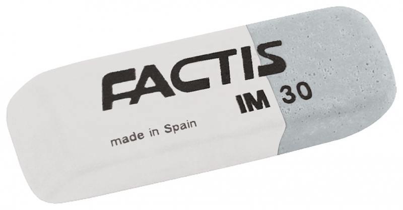 все цены на Ластик FACTIS комбинированный, для грифеля и чернил, из натурального каучука, размер 59х20х10 мм онлайн