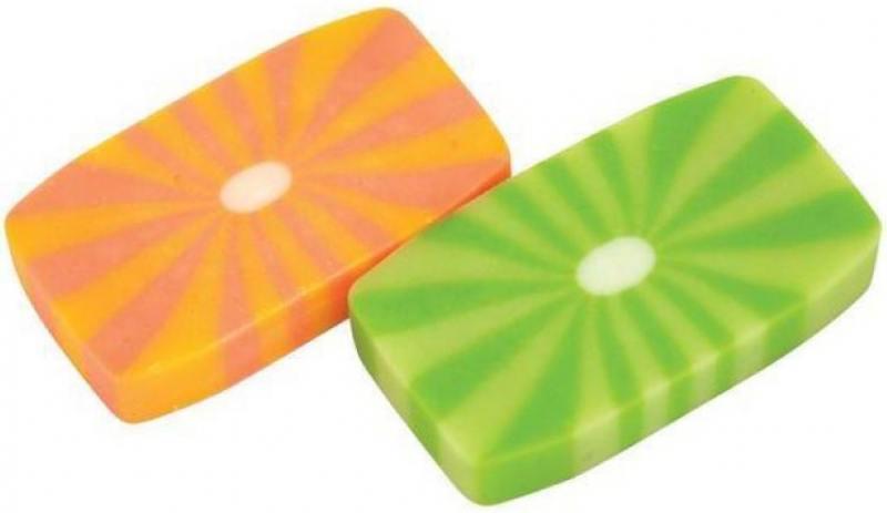 Ластик СОЛНЫШКО, цветной, 45х25х8 мм цены онлайн