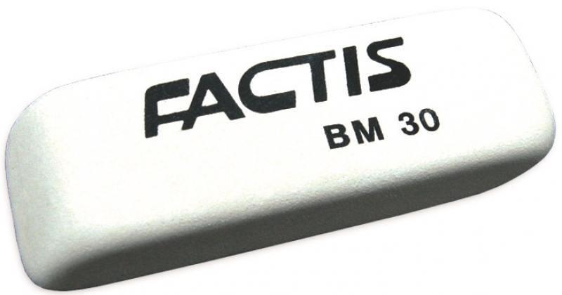 Ластик FACTIS мягкий скошенный, из натурального каучука, размер 59х19,5х10 мм
