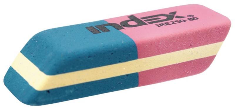 Ластик для карандашей/чернил, каучук, красно-синий, 14х40х8 мм srld красно синий номер м