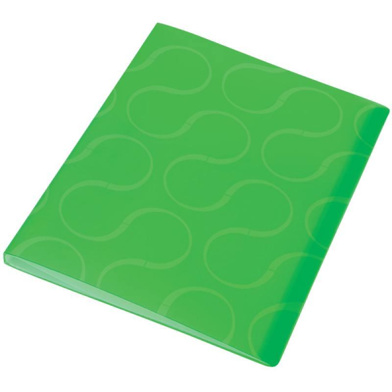 Папка с файлами OMEGA, 20 файлов, цвет зеленый, материал полипропилен, плотность 450 мкр папка с файлами omega 20 файлов цвет красныйй материал полипропилен плотность 450 мкр