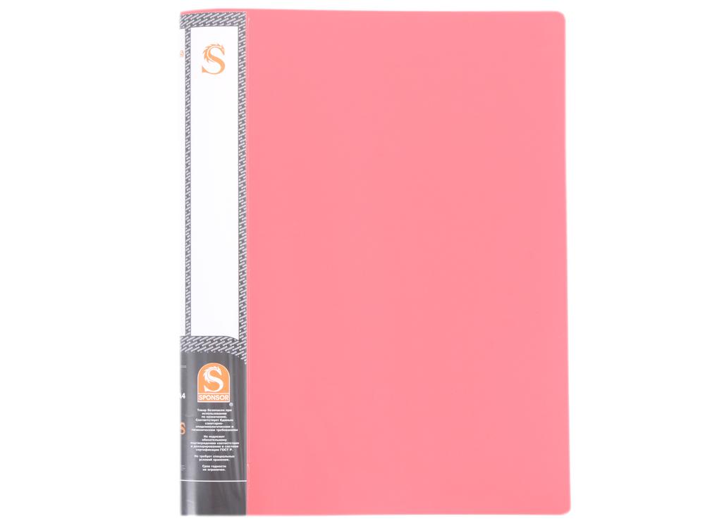 Папка с 10 файлами, форзац, ф.А4, красная