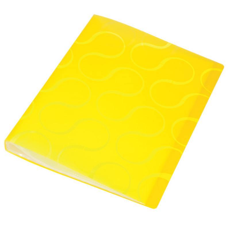 Папка с файлами OMEGA, 20 файлов, цвет желтый, материал полипропилен, плотность 450 мкр папка с файлами omega 20 файлов цвет красныйй материал полипропилен плотность 450 мкр