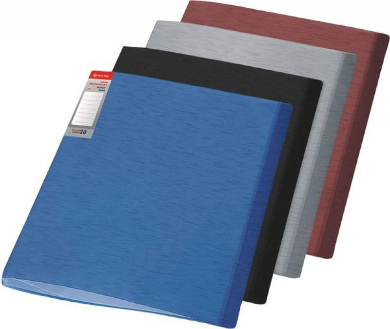 Папка с файлами SIMPLE, ф.А4, 20 файлов, черный, материал PP, плотность 450 мкр папка с файлами omega 20 файлов цвет красныйй материал полипропилен плотность 450 мкр