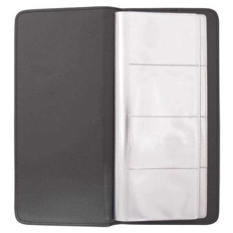 все цены на Визитница настольная, блок 128 визиток, 260х118 мм, кожзам, коричневая онлайн