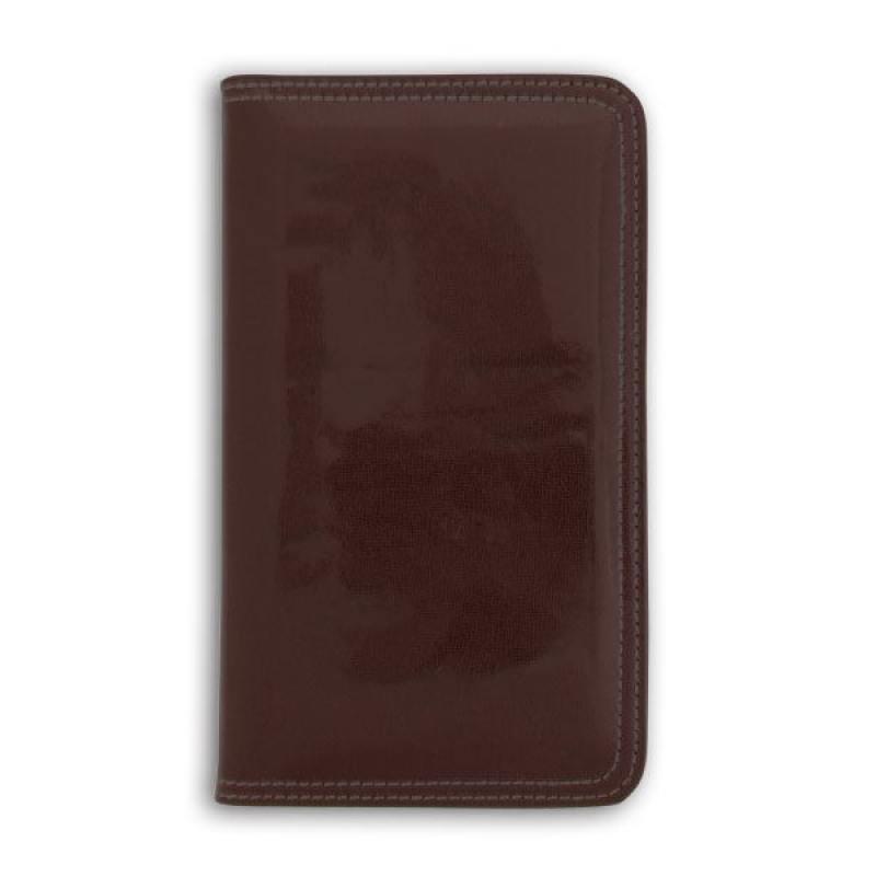 все цены на Визитница настольная, блок 96 визиток, 237х125 мм, кожзам, коричневая онлайн