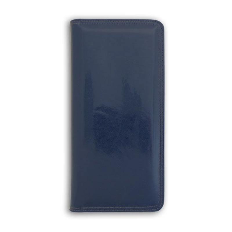 Фото - Визитница настольная, блок 128 визиток, 260х118 мм, кожзам, синяя визитница пвх синяя