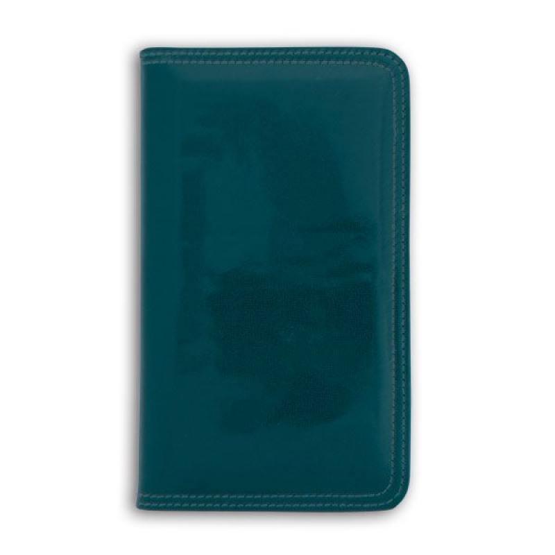 Фото - Визитница настольная, блок 96 визиток, 237х125 мм, кожзам, синяя визитница пвх синяя