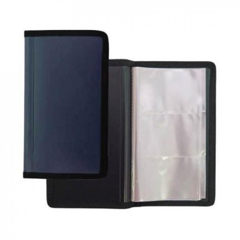 Фото - Визитница настольная, блок 144 визитки, 200х115 мм, пластик, синяя визитница пвх синяя