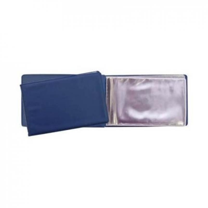 Визитница на 24 визитки, разм.7х11,5 см, темно-синяя, PVC механизм сливной alca plast a08
