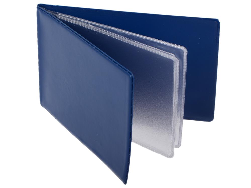Визитница на 24 визитки, разм.7х11,5 см, темно-синяя, PVC eleganzza темно синяя визитница с логотипом