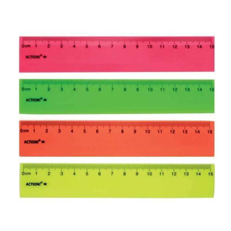 Линейка 15см, флюоресцентная, пластиковая, 4цв, в инд.пакете с европодвесом линейка 25см черная пластиковая в инд пакете с европодвесом apr25 bk