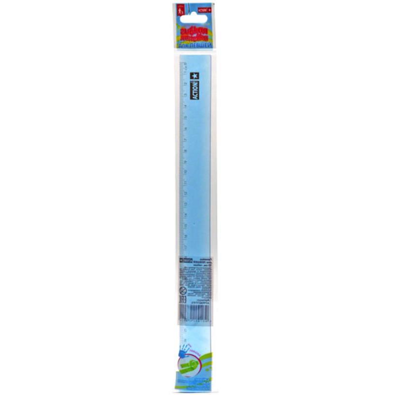 Линейка для Левшей, гибкая, 30 см, в инд. пакете с евроводвесом еж стайл линейка коняшка цвет антрацитовый 15 см