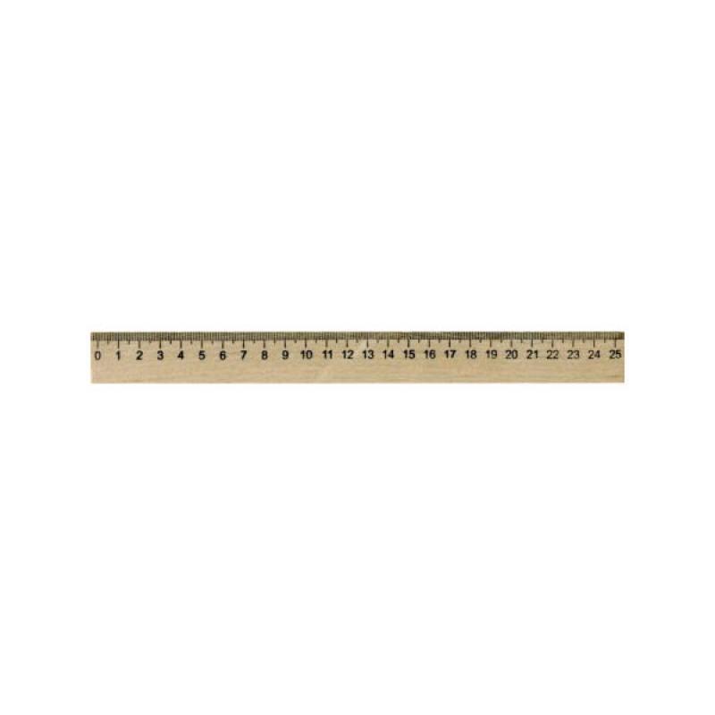 Линейка деревянная, SPONSOR, 25 см., со штрих-кодом линейка деревянная 25 см со штрихкодом
