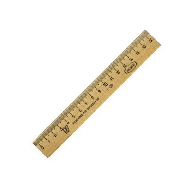 все цены на  Линейка деревянная, 17 см, со штрихкодом  онлайн