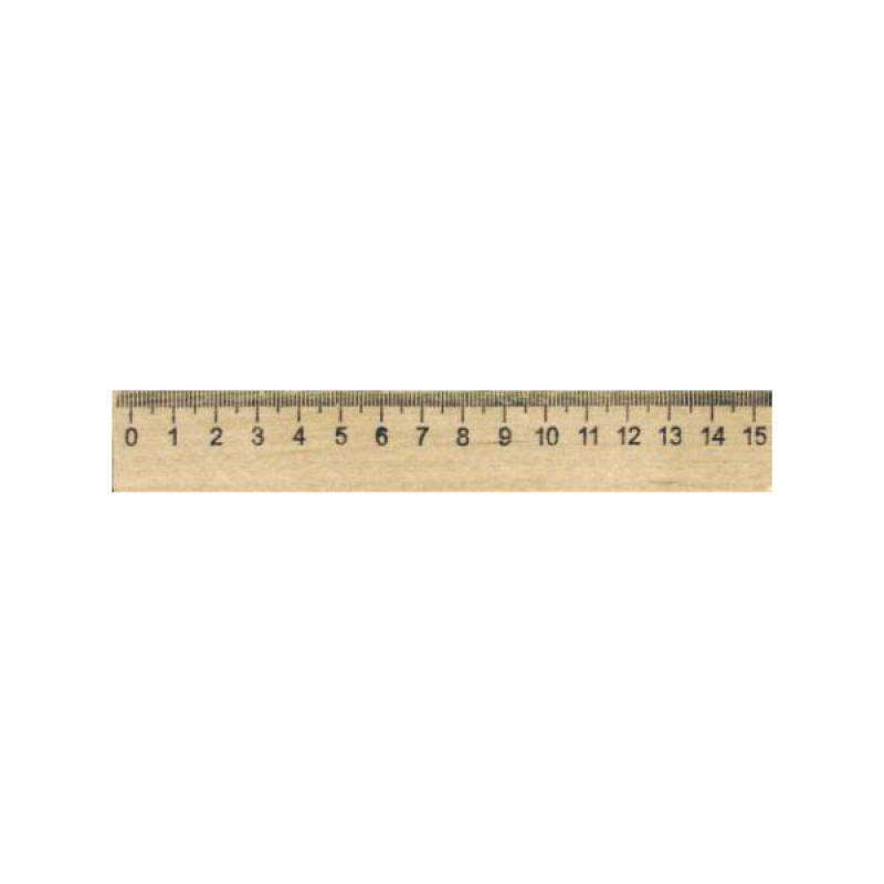 Линейка деревянная, SPONSOR 15 см., со штрих-кодом линейка деревянная 25 см со штрихкодом