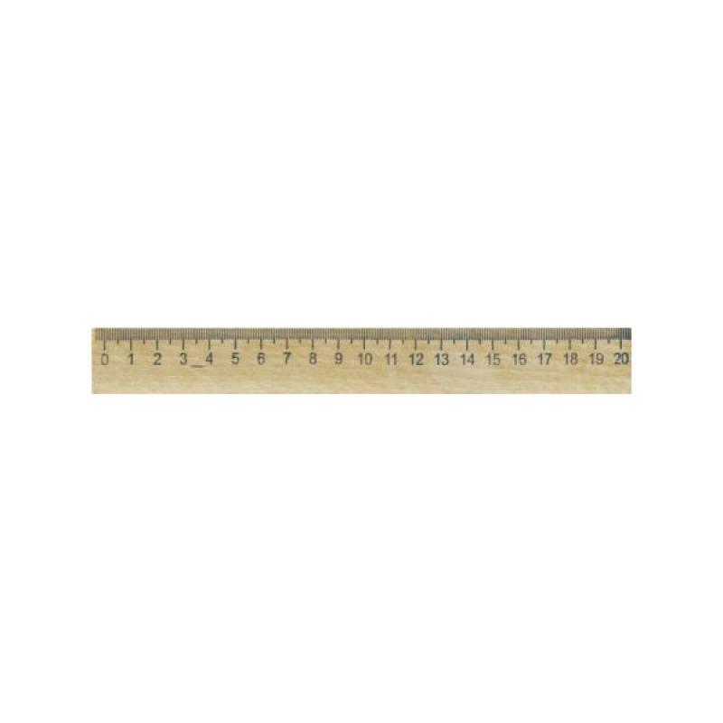 Линейка деревянная, SPONSOR, 20 см., со штрих-кодом линейка деревянная 17 см со штрихкодом