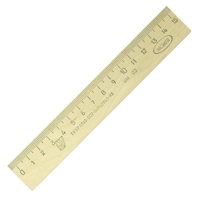 все цены на  Линейка деревянная, 15 см, со штрихкодом  онлайн