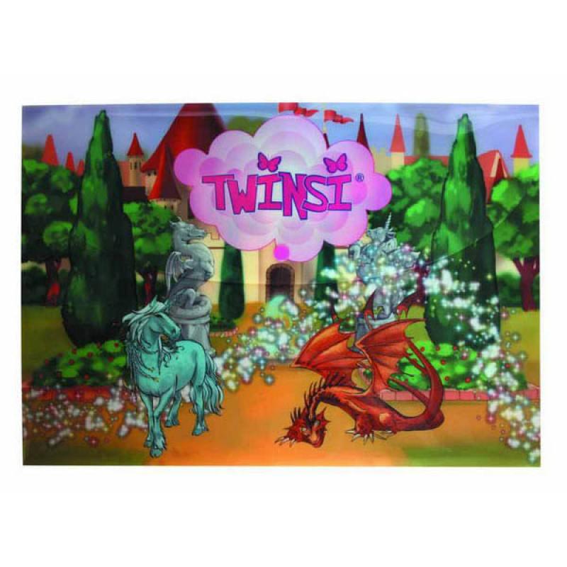 Папка-конверт на кнопке Action! Twinsi 0,2мм, А4, ассорти