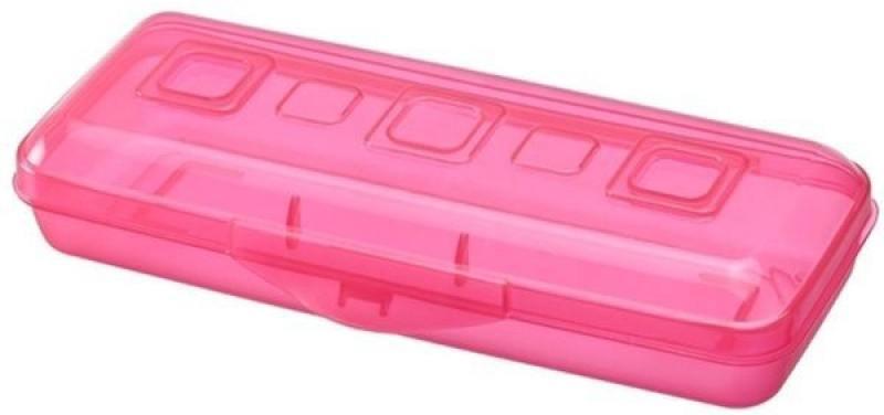 Пенал ПРЕМИУМ, пластмассовый, ярко-розовый