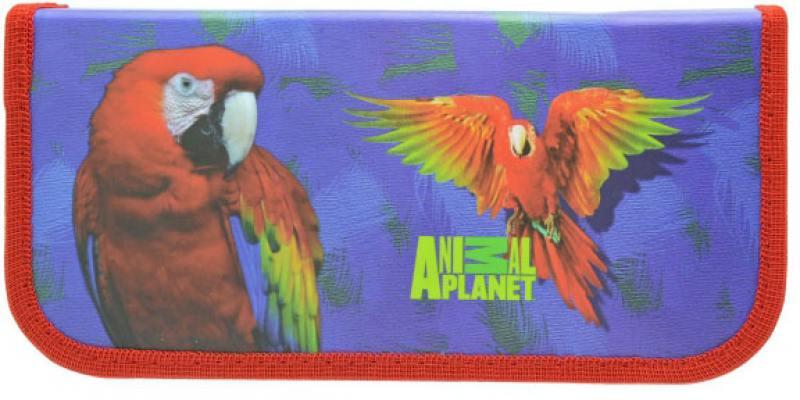 Пенал на одной молнии Animal PLANET, без наполнения, матовая ламинация,разм. 190х90 мм.,2 дизайна
