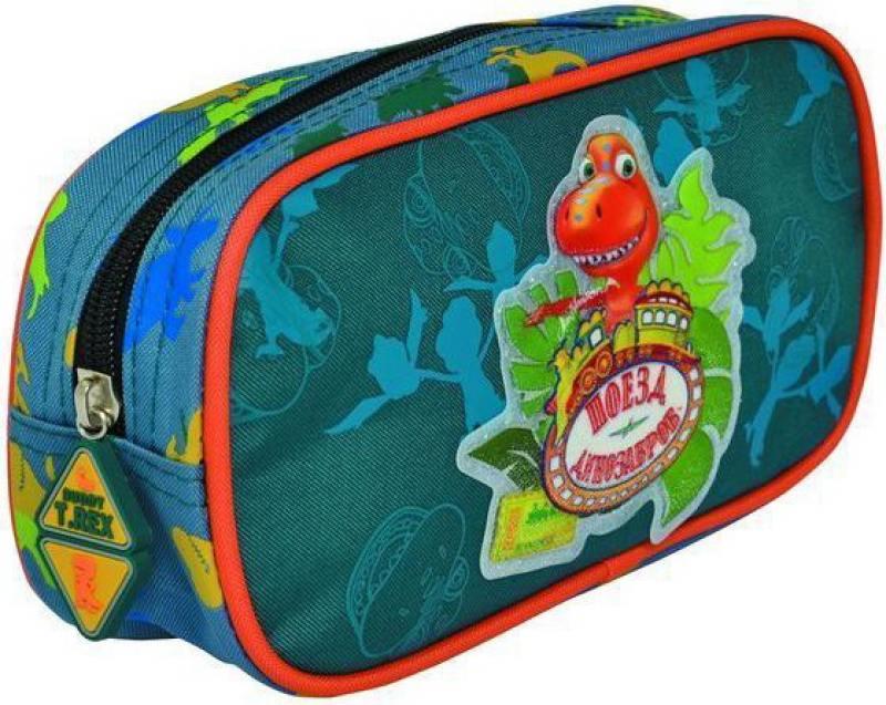 Пенал ПОЕЗД ДИНОЗАВРОВ, на 1 молнию, размер 20,32 х10.2 х 5 см, без наполнения скейтборд пластиковый action цвет зеленый дека 55 см х 15 см