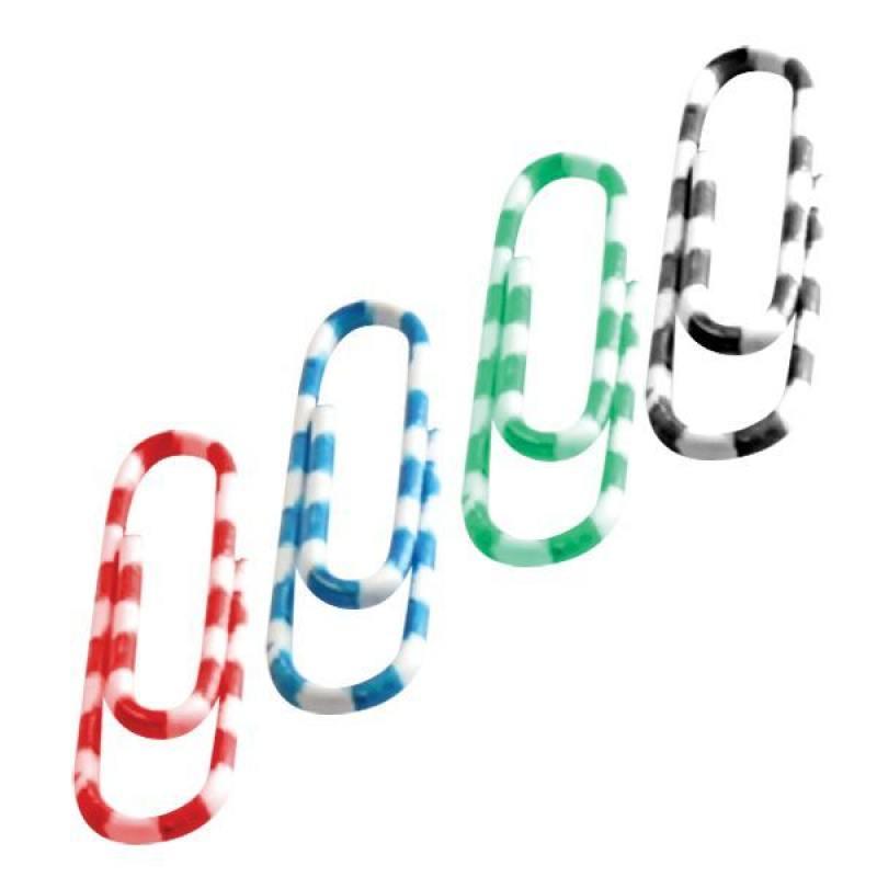 Скрепки Зебра, металл-винил, 32 мм, 70 шт, пластиковая коробка скрепки index зебра 30 шт 50 мм разноцветный ipc2050zeb