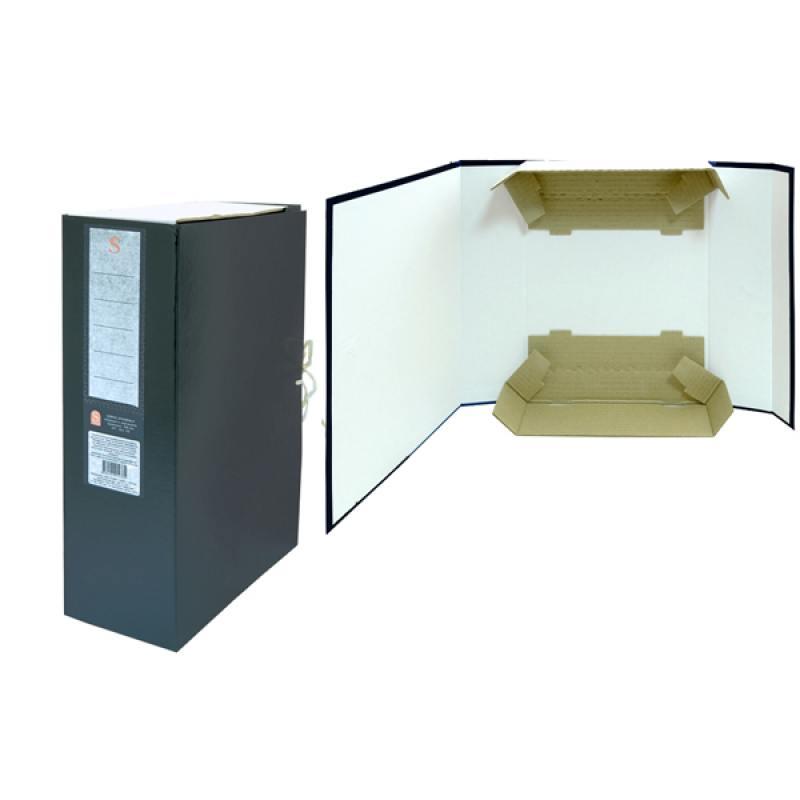Короб архивный цельнокроенный ДЕЛО на 2-х завяз.,разборный, SPONSOR, бумвинил, 100 мм недорго, оригинальная цена