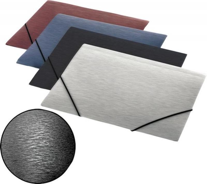 Папка на резинках SIMPLE, ф.А4, серый, материал PP, плотность 600 мкр