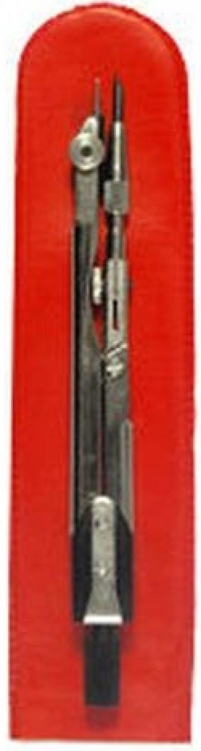 Циркуль чертежный ТЕХНИКА (ЦЧ-02-01), стальной, L-125мм, для старших классов и студентов, чехол набор чертежный техника 2 предмета нч 2 ш 11 для студентов пластм футляр с европодвесом
