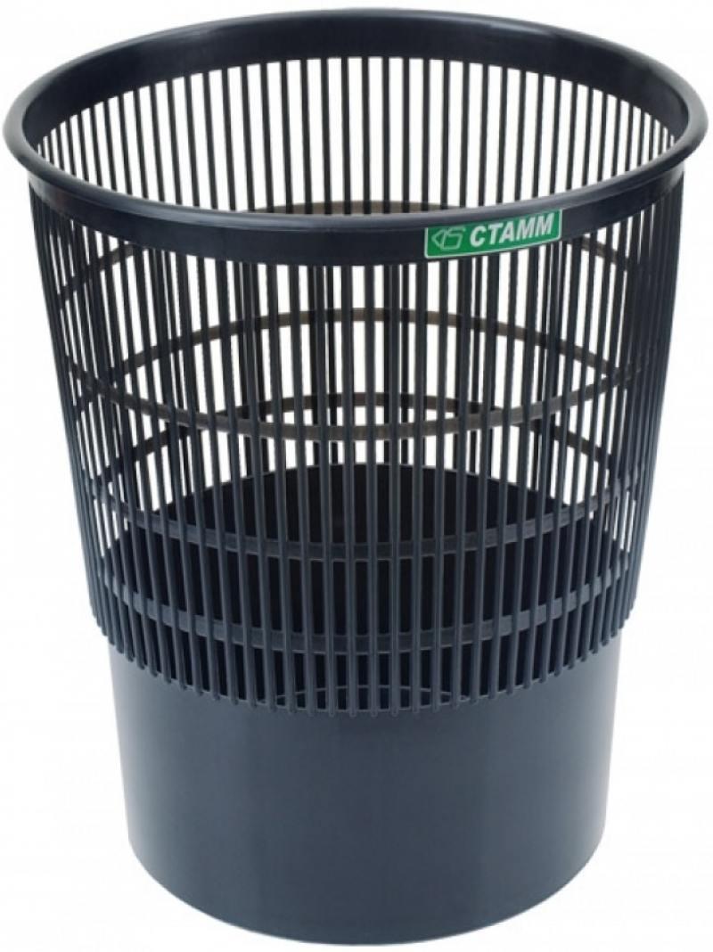 Корзина для бумаг, сетчатая, черная, 18 литров корзина для бумаг стамм кр02 18 серая