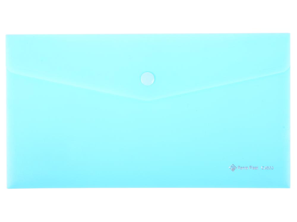 Папка-конверт на кнопке FOCUS, ф.220х110мм,вместител.120 листов, PP, 160 мкр, синий