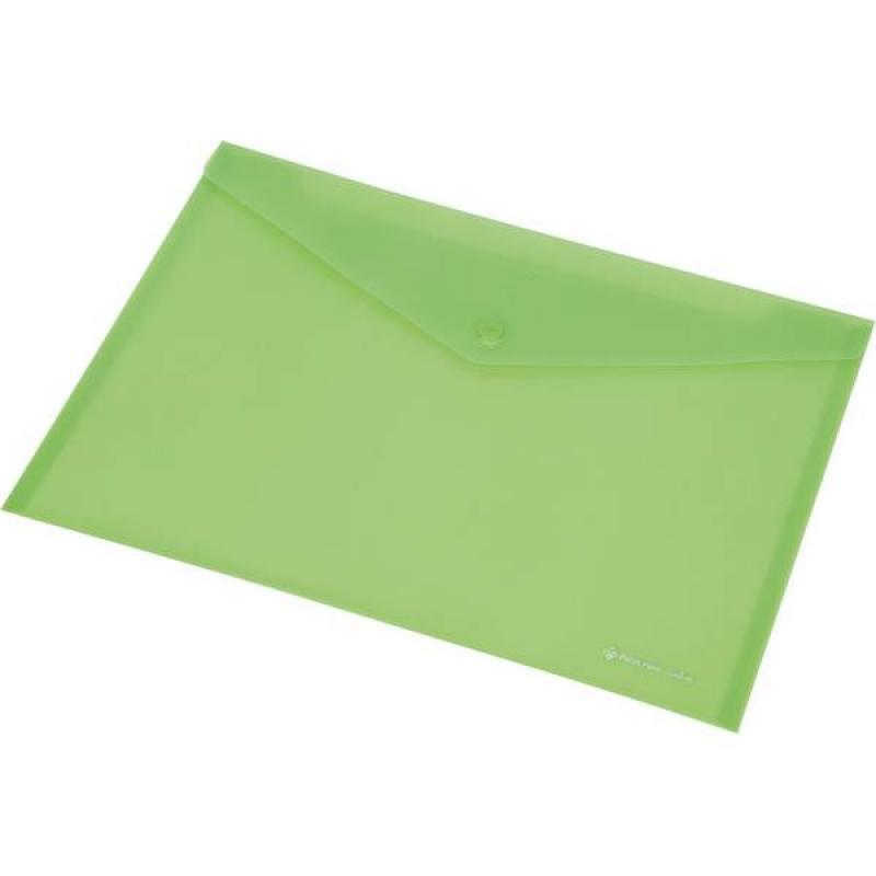 Папка-конверт на кнопке FOCUS, ф.A4, розовый, материал PP, 120 л., плотность 160 мкр