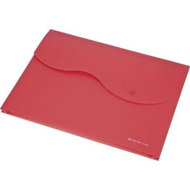 Папка на кнопке и липучке на 200 листов, ф. A4, цвет красный, материал полипропилен proff папка для черчения циркуль 10 листов
