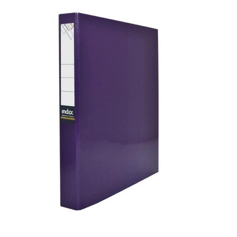 Папка-файл ламинированная на 2 кольцах, фиолетовая