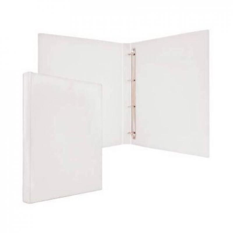 Папка-файл на 4 кольцах, белая, PVC, 25 мм, диаметр 16мм механизм сливной alca plast a08