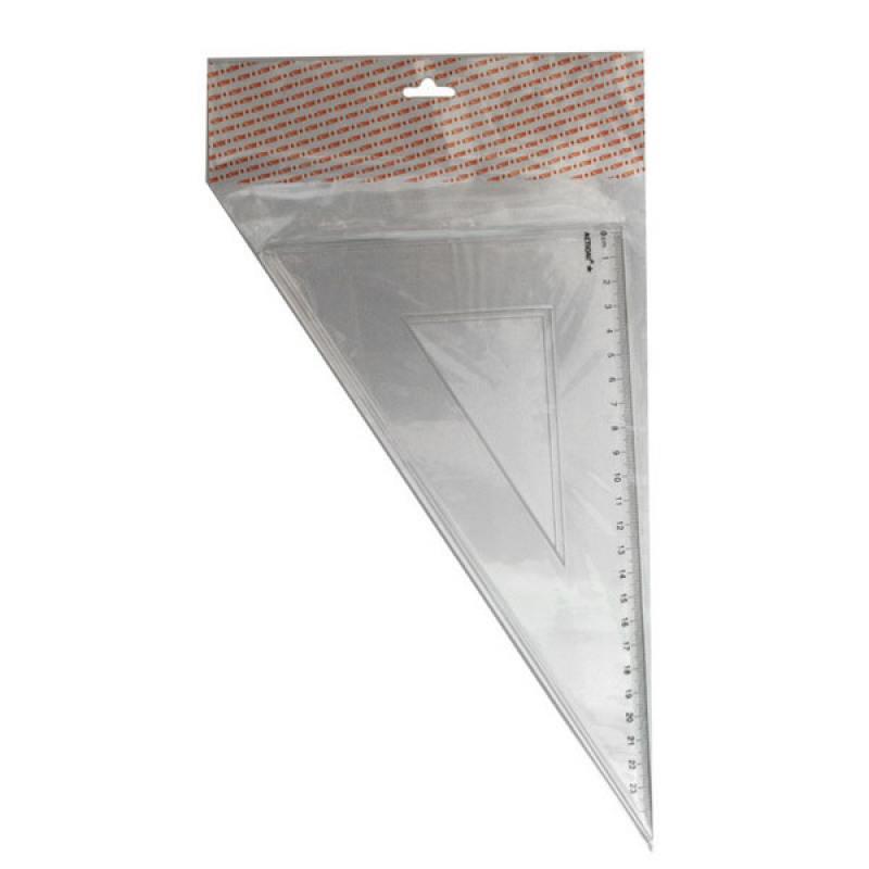 Фото - Треугольник 30*, длина 23 см,прозрачный,пластиковый,в инд.пакете с европодвесом треугольник рантис 30 градусов 12 см пластиковый прозрачный