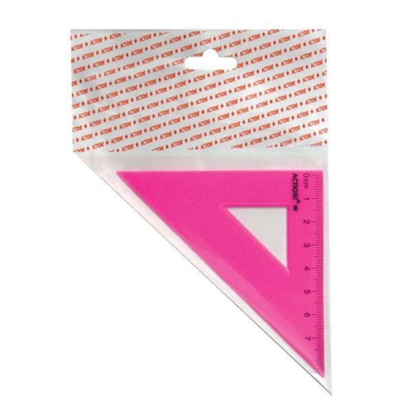 Треугольник 45*, длина 7 см,флюоресцентный,пластиковый,4цв,в инд.пакете с европодвесом скейтборд пластиковый action цвет зеленый дека 55 см х 15 см