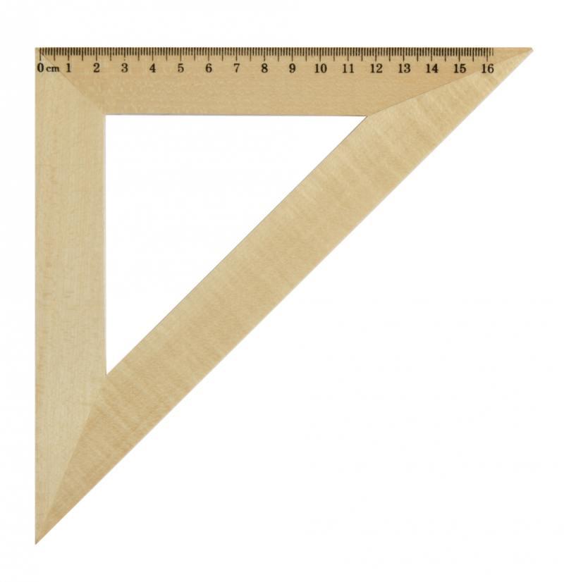 Треугольник 45*, длина 16см, деревянный, в инд.пакете с европодвесом набор свечей фейрверк искрящиеся 16см 24шт