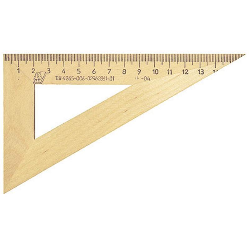 Треугольник деревянный, 30*, 16 см, со штрихкодом линейка деревянная 17 см со штрихкодом