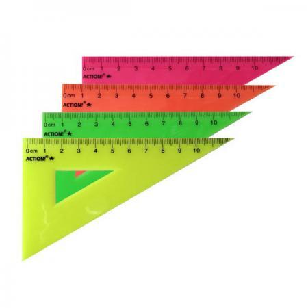 Фото - Треугольник 30*, длина 10 см,флюоресцентный,пластиковый,4цв,в инд.пакете с европодвесом треугольник рантис 30 градусов 12 см пластиковый прозрачный