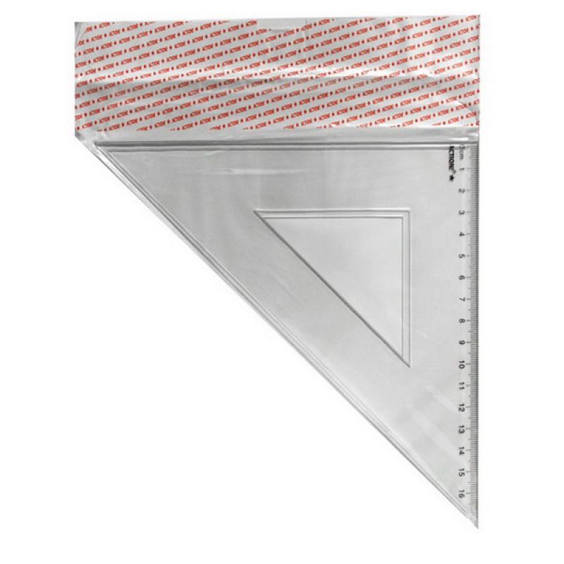 Фото - Треугольник 45*, длина 16 см,прозрачный,пластиковый,в инд.пакете с европодвесом треугольник рантис 30 градусов 12 см пластиковый прозрачный