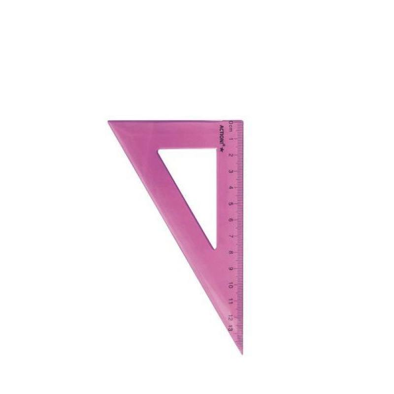 Фото - Треугольник 30*, длина 13 см,флюоресцентный,прозрачный,пластиковый,4цв,в инд.пакете с европодвесом треугольник рантис 30 градусов 12 см пластиковый прозрачный