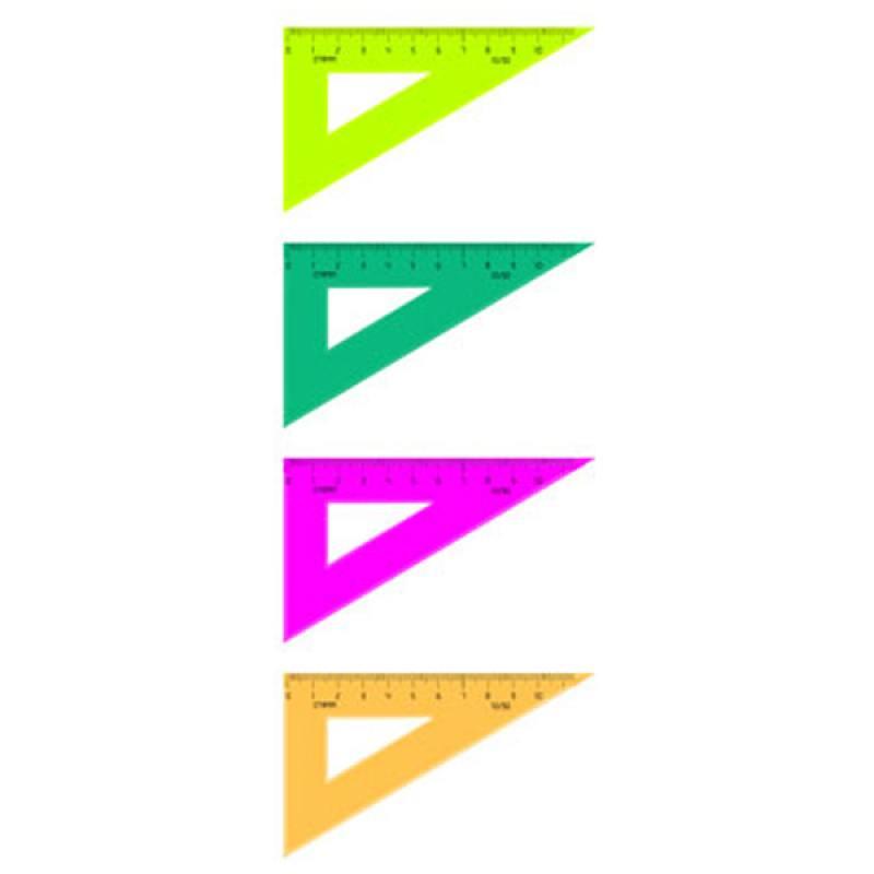 Треугольник 30*, 10 см, флюоресц., 4 цв. бабочки 9 цв