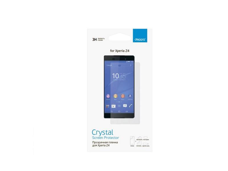 Защитная пленка Deppa для Sony Xperia Z3+ прозрачная 61371 чехол deppa air case для sony xperia z3 розовый 83140