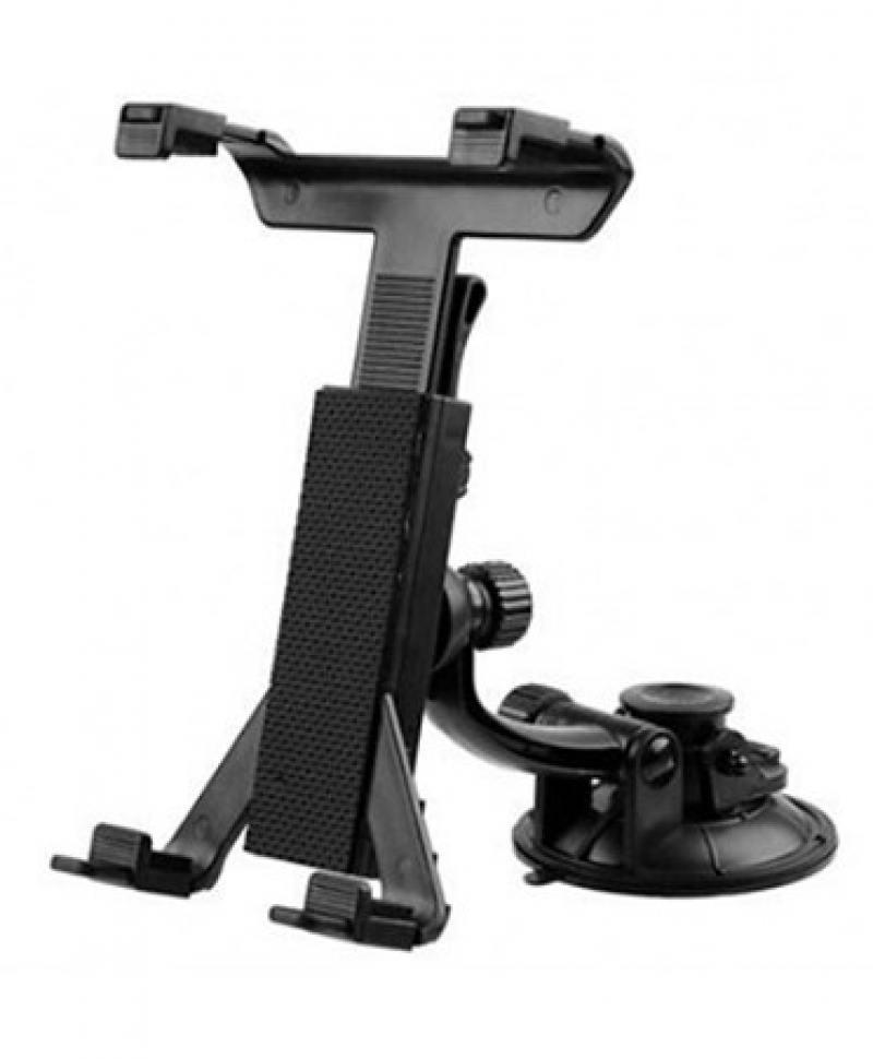 Автомобильный держатель Wiiix KDS-2 для планшетов крепление на стекло черный цена и фото