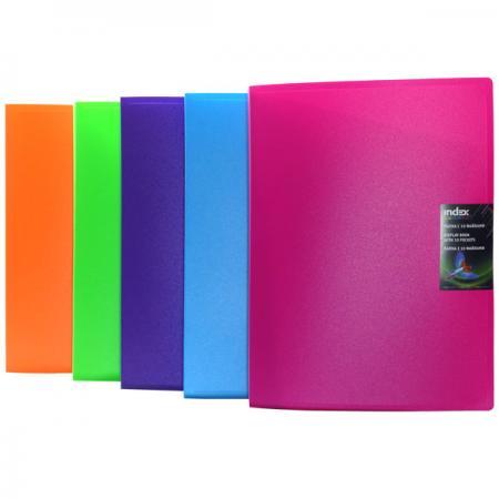 Папка с 10 файлами COLOURPLAY, ф.A4, 0,6мм, прозрачная, ассорти цена и фото