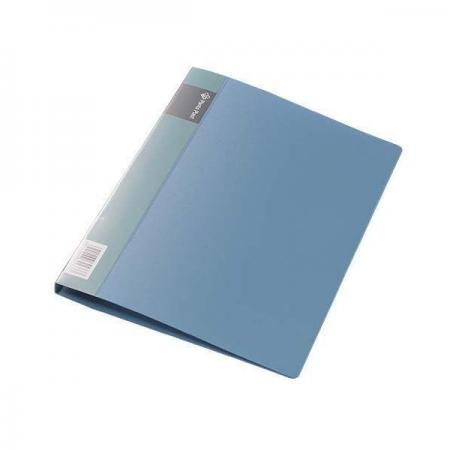 Папка с прижимным механизмом, ф. А4, цвет синий, материал полипропилен, вместимость 120 листов механизм сливной alca plast a08