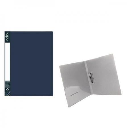 Папка с прижимным механизмом METALLIC, синяя off road semi metallic disc brake pads set fit yamaha yz125 yz 125 2008