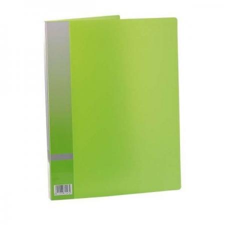 Папка с прижимным механизмом, ф. А4, цвет зеленый, материал полипропилен, вместимость 120 листов